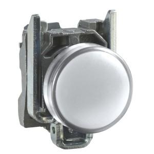 Voyant lumineux LED Ø22 - blanc - 24V - vis étrier - Harmony XB4 SCHNEIDER