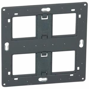 Support à vis pour 2x2 postes ou 2x4 à 5 modules - pour Mosaic , Céliane ou Soliroc LEGRAND