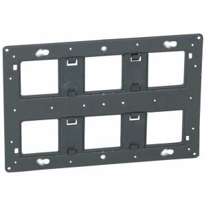 Support à vis pour 2x3 postes ou 2x6 à 8 modules pour Mosaic, Céliane ou Soliroc LEGRAND