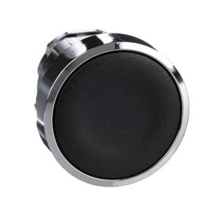 Tête bouton poussoir - affleurant - Ø22 - noir - Harmony XB4 SCHNEIDER