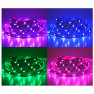 Bandeau LED RGB + blanc 5m - 60 LED/m 72W IP20 - 24V VISION EL