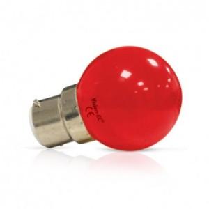 Ampoule LED B22 rouge bulb 1W VISION EL