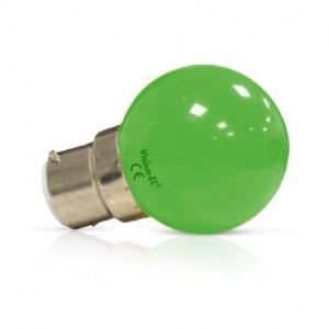 Ampoule LED B22 vert bulb 1W VISION EL