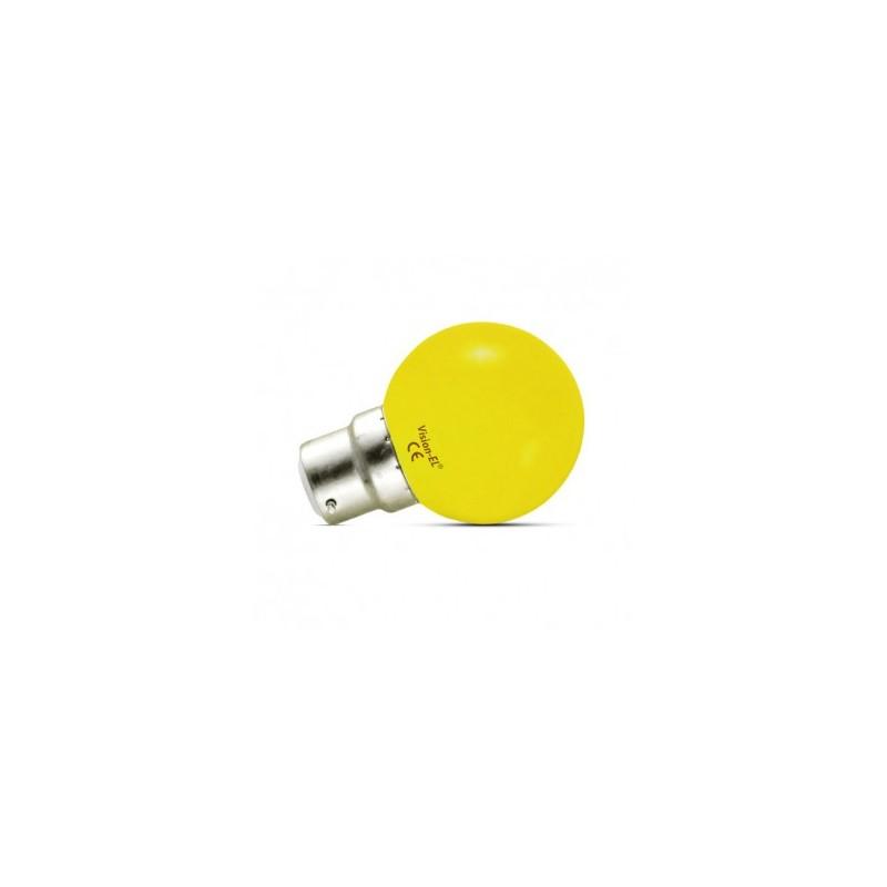 Ampoule LED B22 jaune bulb 1W VISION EL