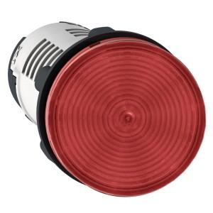 Voyant rond Ø22 rouge LED intégrée 230V faston - Harmony XB7 SCHNEIDER
