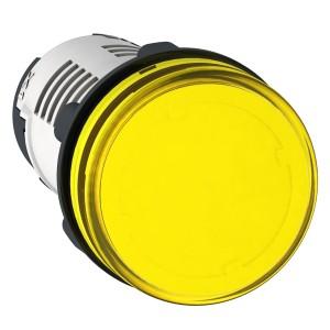 Voyant rond Ø22 jaune LED intégrée 120V - Harmony XB7 SCHNEIDER