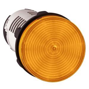 Voyant rond Ø22 orange LED intégrée 120V - Harmony XB7 SCHNEIDER