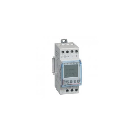 Interrupteur crépusculaire modulaire programmable IP65 - sortie 16A 250V livré avec cellule photoélectrique - 2 modules LEGRAND