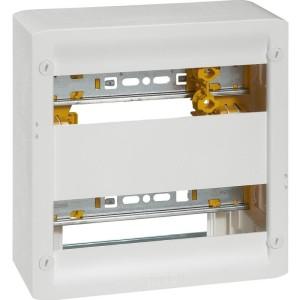 Coffret basique DRIVIA 13 modules à équiper 250x250mm avec 2 rails DIN LEGRAND