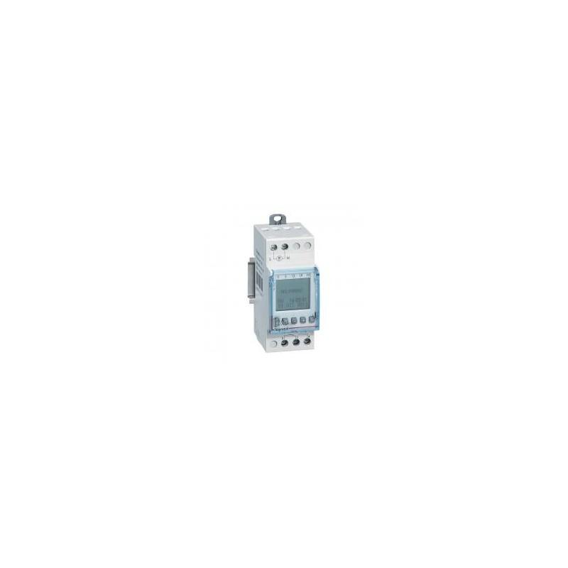 Interrupteur horaire digital modulaire programmable journalière ou hebdomadaire - 1 sortie 16A 250V~ alimentation 230V~ LEGRAND