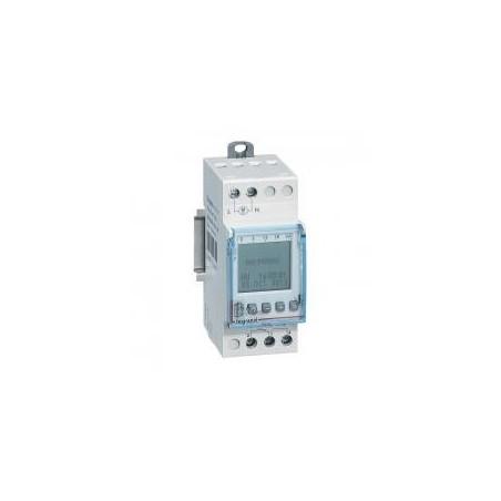 Interrupteur horaire programmable journalier ou hebdomadaire - 1 sortie 16A 250V~ alimentation 230V~ LEGRAND