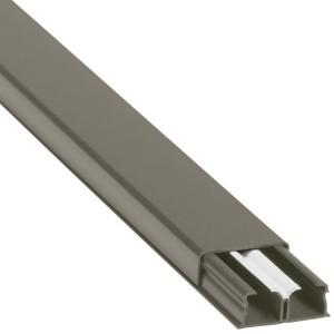 Guide-câbles marron 32x12,5mm grande capacité 2 compartiments - longueur 2,1m LEGRAND