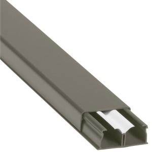 Guide-câbles marron 40x16mm grande capacité 2 compartiments - longueur 2,1m LEGRAND