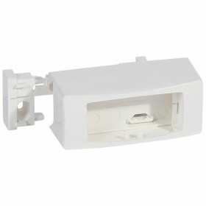 Cadre appareillage saillie 1 poste étroit pose sur moulure DLPlus 20x12,5mm ou 32x12,5mm - blanc LEGRAND