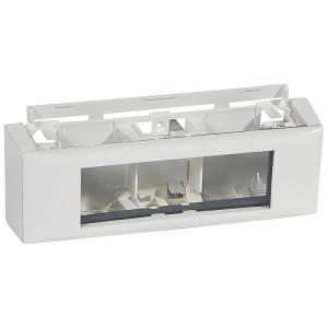 Cadre Mosaic 6 modules pour toutes moulures DLPlus - blanc LEGRAND