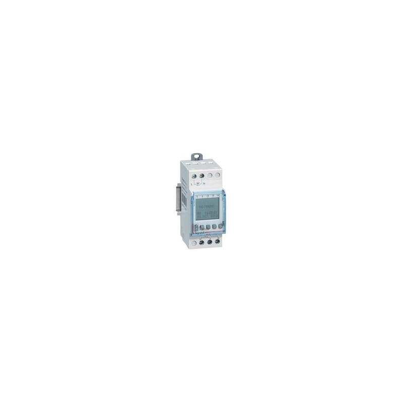 Interrupteur horaire digital modulaire programmable journalière ou hebdomadaire - 1 sortie 16A 24V~ alimentation 24V~ LEGRAND