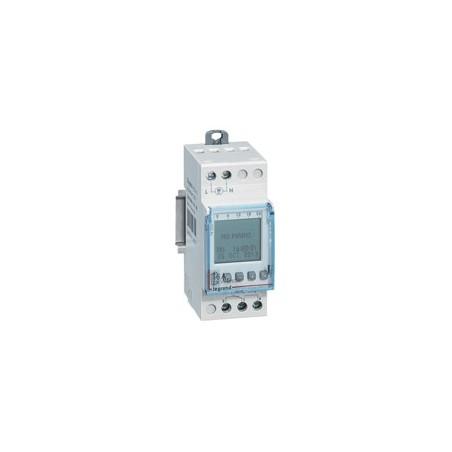 Interrupteur horaire programmable journalier ou hebdomadaire - 1 sortie 16A 24V~ alimentation 24V~ LEGRAND