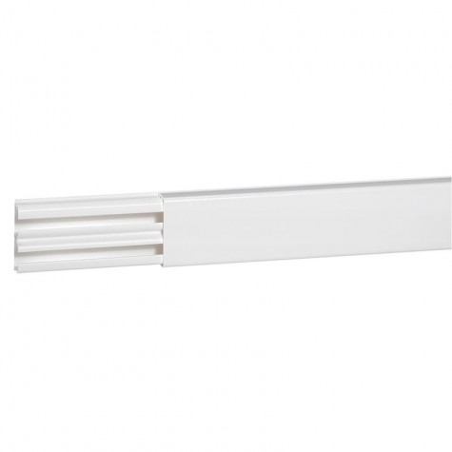 Moulure DLPlus 32x12,5mm 2 compartiments longueur 2,1m - blanc LEGRAND