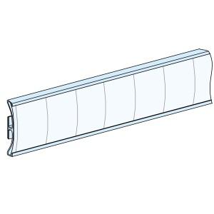 Porte-étiquettes adhésives - L432mm H24mm - lot de 12 - Prisma SCHNEIDER