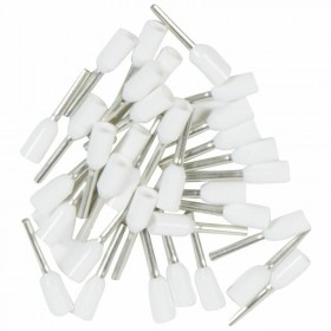 Embouts de câblage à collerette isolante Starfix simple unitaire pour conducteurs section 0,5mm² - blanc LEGRAND
