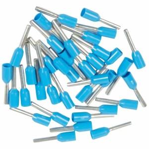 Embouts de câblage à collerette isolante Starfix simple unitaire pour conducteurs section 0,75mm² - bleu LEGRAND