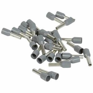 Embouts de câblage à collerette isolante Starfix simple unitaire pour conducteurs section 2,5mm² - gris LEGRAND