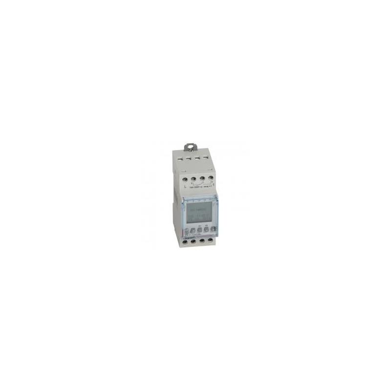 Interrupteur horaire programmable journalier ou hebdomadaire - 2 sorties 16A 250V~ - 230V~ LEGRAND
