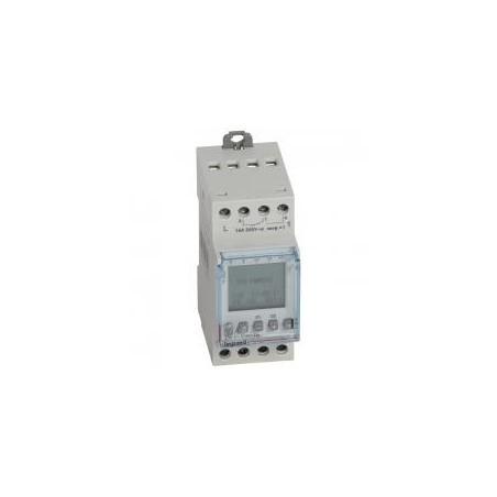 Interrupteur horaire digital modulaire programmable journalière ou hebdomadaire - 2 sorties 16A 250V~ - 230V~ LEGRAND