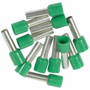 Embouts de câblage à collerette isolante Starfix simple unitaire pour conducteurs section 6mm² - vert LEGRAND