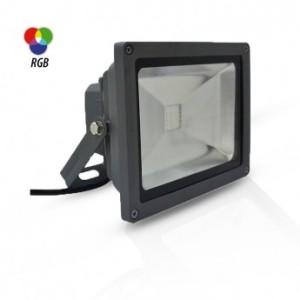 Projecteur extérieur LED 20W RGB avec télécommande RF - Gris VISION EL