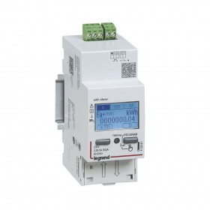 Compteur modulaire monophasé EMDX³ MID raccordement direct 63A 2 modules avec sortie et 1 entrée à impulsions LEGRAND