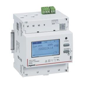 Compteur modulaire triphasé EMDX³ non MID raccordement TI 5A - 4 modules - avec sortie RS485 LEGRAND