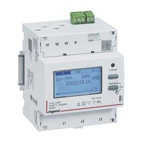 Compteur modulaire triphasé EMDX³ MID raccordement TI 5A - 4 modules - avec sortie RS485 LEGRAND