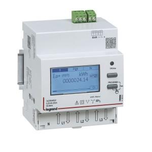 Compteur modulaire triphasé EMDX³ MID raccordement direct 63A - 4 modules - avec sortie RS 485 LEGRAND