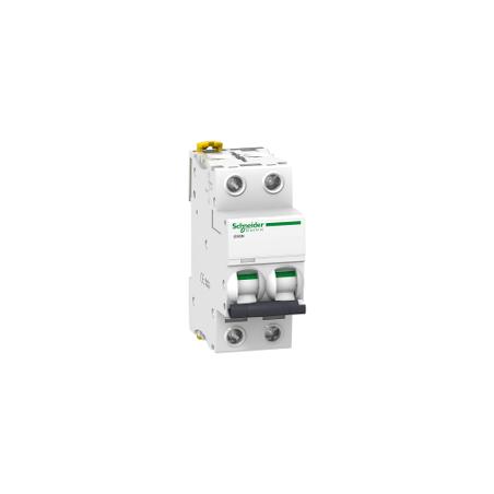 Disjoncteur 2P - 6A - courbe D - Acti 9 iC60N SCHNEIDER