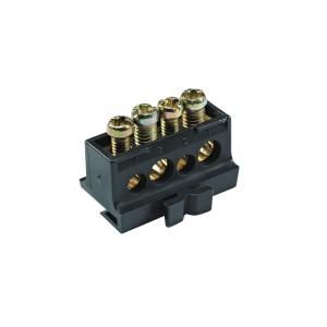 Bornier répartiteur - 80A - 4 trous (2x10mm² + 2x16mm²) -L30mm - PrismaSeT G Active SCHNEIDER
