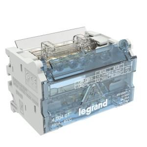 Répartiteur modulaire à barreaux étagés bipolaire 100A 6 départs - 4 modules LEGRAND