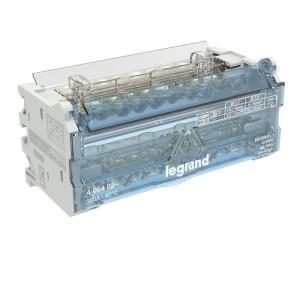 Répartiteur modulaire à barreaux étagés bipolaire 100A 10 départs - 6 modules LEGRAND