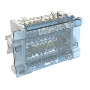 Répartiteur modulaire à barreaux étagés tétrapolaire 100A 11 départs - 8 modules LEGRAND