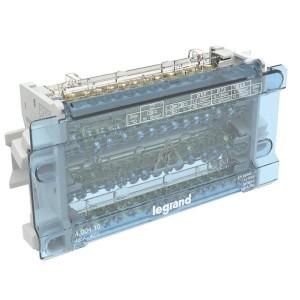Répartiteur modulaire à barreaux étagés tétrapolaire 125A 15 départs - 10 modules LEGRAND