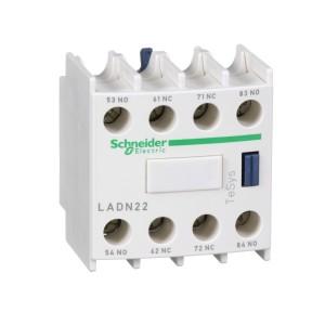 Bloc de contacts auxiliaires - 2F+2O - bornes à vis-étriers - TeSys D - LADN22 SCHNEIDER