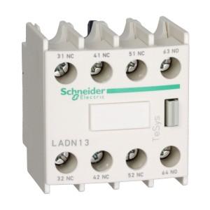 Bloc de contacts auxiliaires - 1F+3O - bornes à vis-étriers - TeSys D - LADN13 SCHNEIDER