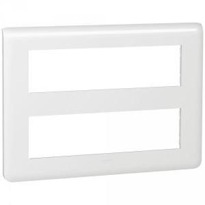 Plaque Mosaic 2x8 modules - blanc LEGRAND