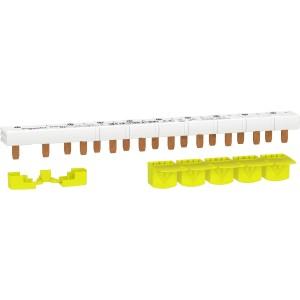 Peigne monobloc 1P+N - 63A - 10 modules - cache dents 5M - Resi9 SCHNEIDER