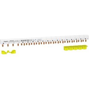 Peigne monobloc 3P+N - 63A - 24 modules - cache dents 5M - Resi9 SCHNEIDER