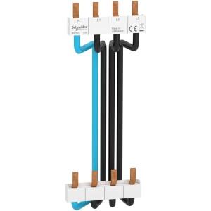 Peigne vertical 3P+N - entraxe 150mm - câbles préformés SCHNEIDER