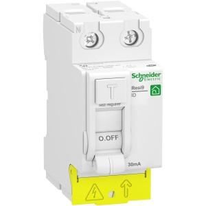 Interrupteur différentiel 2P - 25A - 30mA - Type AC - peignable - alim bas - Resi9 XP SCHNEIDER