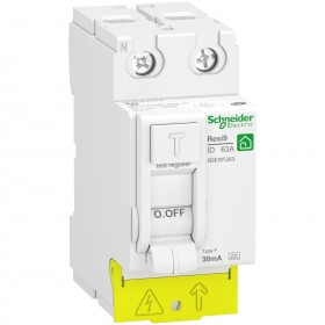 Interrupteur différentiel 63A 2P - 30mA - Type Fsi - peignable - Resi9 XP SCHNEIDER