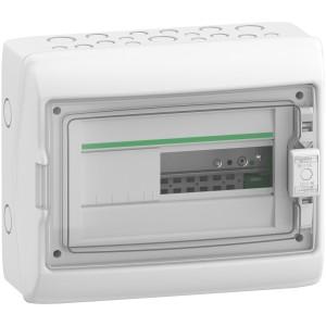Coffret 1 rangée 12 modules - avec fond - IP65 - compatible XE - Resi9 SCHNEIDER