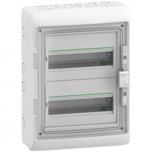 Coffret 2 rangées 12 modules - avec fond - IP65 - compatible XE - Resi9 SCHNEIDER